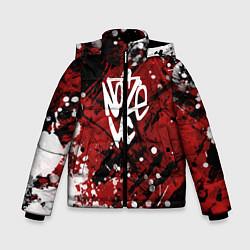 Куртка зимняя для мальчика Noize MC цвета 3D-черный — фото 1