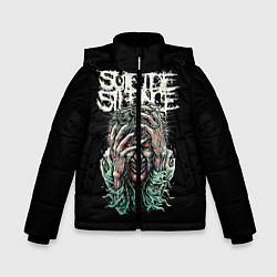 Куртка зимняя для мальчика Suicide silence цвета 3D-черный — фото 1