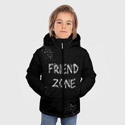 Куртка зимняя для мальчика FRIEND ZONE цвета 3D-черный — фото 2