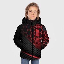 Куртка зимняя для мальчика Audi RS цвета 3D-черный — фото 2