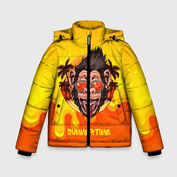 Детская зимняя куртка для мальчика с принтом Summertime обезьяна, цвет: 3D-черный, артикул: 10209177906063 — фото 1