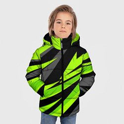 Куртка зимняя для мальчика Форма для фитнеса цвета 3D-черный — фото 2
