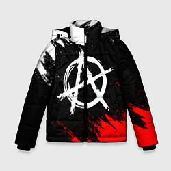 Куртка зимняя для мальчика АНАРХИЯ цвета 3D-черный — фото 1