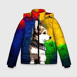 Куртка зимняя для мальчика Корги цвета 3D-черный — фото 1