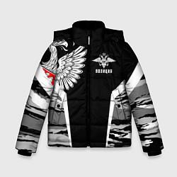 Куртка зимняя для мальчика Камуфляж Полиция цвета 3D-черный — фото 1