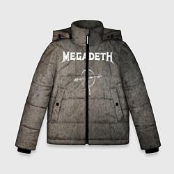 Детская зимняя куртка для мальчика с принтом Megadeth, цвет: 3D-черный, артикул: 10211240306063 — фото 1
