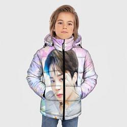 Куртка зимняя для мальчика БТС 2020 Season Greeting Чимин цвета 3D-черный — фото 2