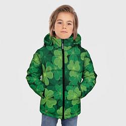 Куртка зимняя для мальчика Ирландский клевер цвета 3D-черный — фото 2