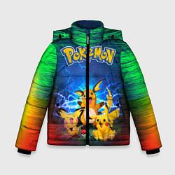 Куртка зимняя для мальчика Pikachu цвета 3D-черный — фото 1