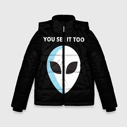 Куртка зимняя для мальчика Вы тоже это видите цвета 3D-черный — фото 1