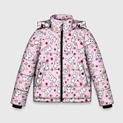 Детская зимняя куртка для мальчика с принтом Зайчики, цвет: 3D-черный, артикул: 10213994306063 — фото 1