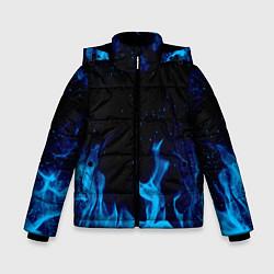 Куртка зимняя для мальчика СИНИЙ ОГОНЬ цвета 3D-черный — фото 1