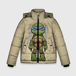 Куртка зимняя для мальчика Маленький Леонардо цвета 3D-черный — фото 1