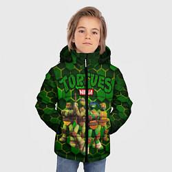 Куртка зимняя для мальчика Черепашки-ниндзя в сборе цвета 3D-черный — фото 2