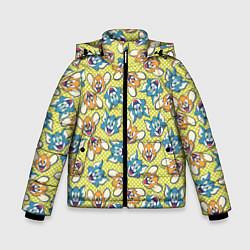Куртка зимняя для мальчика Jerry: Pattern цвета 3D-черный — фото 1