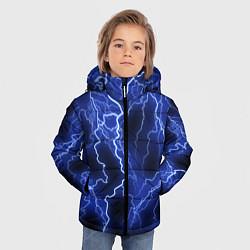 Куртка зимняя для мальчика МОЛНИЯ NEON цвета 3D-черный — фото 2