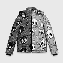 Куртка зимняя для мальчика Черепа цвета 3D-черный — фото 1