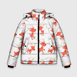 Куртка зимняя для мальчика Милый олень цвета 3D-черный — фото 1