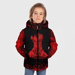 Куртка зимняя для мальчика UNCHARTED цвета 3D-черный — фото 2