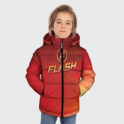 Куртка зимняя для мальчика The Flash Logo Pattern цвета 3D-черный — фото 2