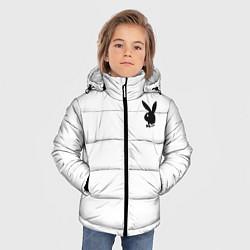 Куртка зимняя для мальчика Зайчик playboy цвета 3D-черный — фото 2