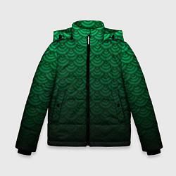 Куртка зимняя для мальчика Узор зеленая чешуя дракон цвета 3D-черный — фото 1