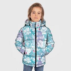 Куртка зимняя для мальчика Mulan Flowers Pattern цвета 3D-черный — фото 2