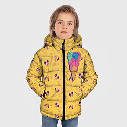 Детская зимняя куртка для мальчика с принтом Минни Маус мороженое, цвет: 3D-черный, артикул: 10250066506063 — фото 2
