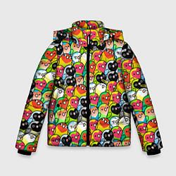 Куртка зимняя для мальчика Папуги цвета 3D-черный — фото 1