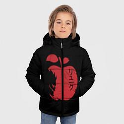 Куртка зимняя для мальчика Рюк Тетрадь смерти цвета 3D-черный — фото 2