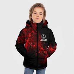 Куртка зимняя для мальчика LEXUS цвета 3D-черный — фото 2