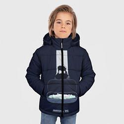 Куртка зимняя для мальчика Чёрное зеркало цвета 3D-черный — фото 2