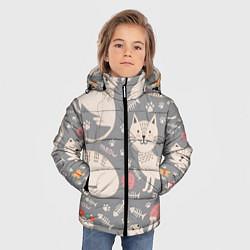 Куртка зимняя для мальчика Милые кошечки цвета 3D-черный — фото 2