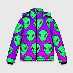 Куртка зимняя для мальчика ALIENS цвета 3D-черный — фото 1