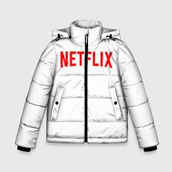Куртка зимняя для мальчика NETFLIX цвета 3D-черный — фото 1