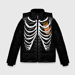 Куртка зимняя для мальчика Шаверма в груди цвета 3D-черный — фото 1