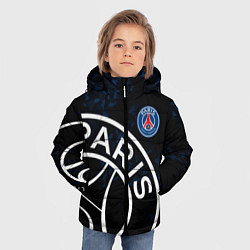 Куртка зимняя для мальчика ПСЖ цвета 3D-черный — фото 2
