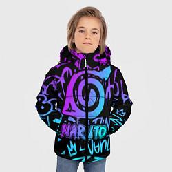 Куртка зимняя для мальчика NARUTO цвета 3D-черный — фото 2