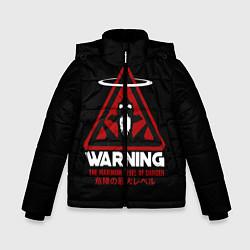 Куртка зимняя для мальчика Евангелион цвета 3D-черный — фото 1