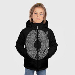 Куртка зимняя для мальчика JOY DIVISION цвета 3D-черный — фото 2
