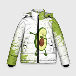 Куртка зимняя для мальчика Авокадо цвета 3D-черный — фото 1