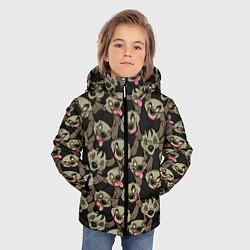 Куртка зимняя для мальчика Африканские Гиены цвета 3D-черный — фото 2