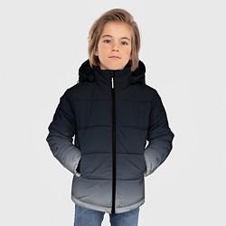 Куртка зимняя для мальчика Градиент цвета 3D-черный — фото 2