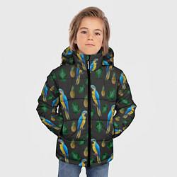 Куртка зимняя для мальчика Попугай Ара цвета 3D-черный — фото 2