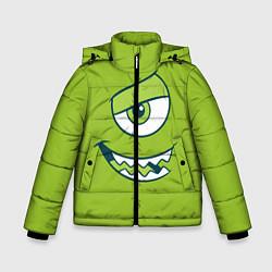 Куртка зимняя для мальчика Mike Wazowski цвета 3D-черный — фото 1