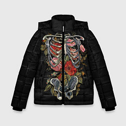 Куртка зимняя для мальчика Halloween цвета 3D-черный — фото 1
