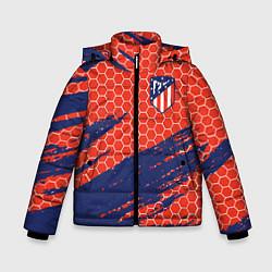 Куртка зимняя для мальчика Atletico Madrid цвета 3D-черный — фото 1