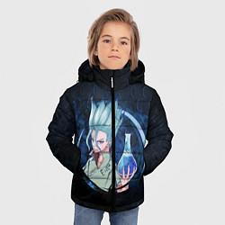 Куртка зимняя для мальчика Dr Stone цвета 3D-черный — фото 2
