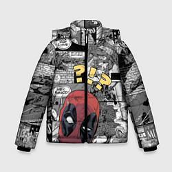 Детская зимняя куртка для мальчика с принтом Deadpool, цвет: 3D-черный, артикул: 10275016106063 — фото 1