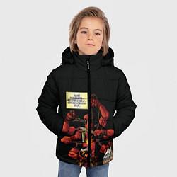 Детская зимняя куртка для мальчика с принтом Deadpool, цвет: 3D-черный, артикул: 10275016506063 — фото 2